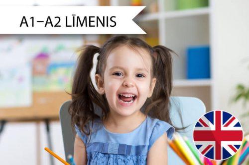 Angļu valodas kursi bērniem no 3 līdz 4 gadiem A1 līdz A2 līmenim sestdienās, Skrivanek Baltic
